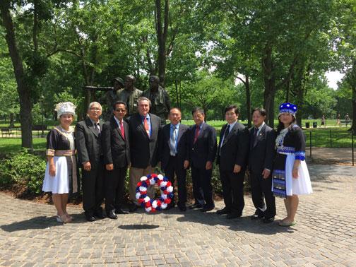 Laos, Hmong Veterans Honored At National Ceremonies At Arlington National Cemetery, Vietnam Veterans Memorial
